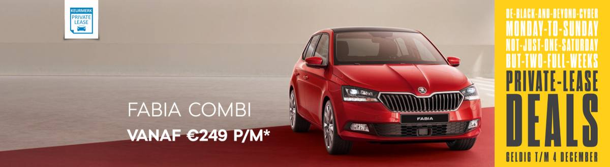 ŠKODA Black Friday P.L. actie